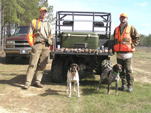 Guided and Unguided Wild Georgia Quail Hunts with Corporate Memberships and Day Hunts